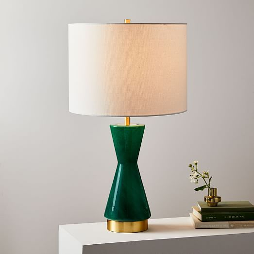 Metalized Glass Table Lamp Usb Large Green Glass Table Lamp Modern Table Lamp Glass Table