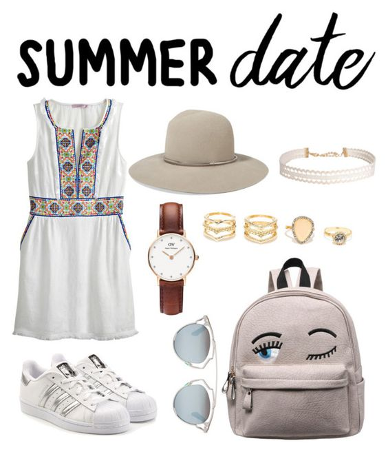 """""""Untitled #62"""" by bengaiedoumaima ❤ liked on Polyvore featuring Calypso St. Barth, adidas Originals, Christian Dior, LULUS, Daniel Wellington, Humble Chic, Janessa Leone, statefair and summerdate"""