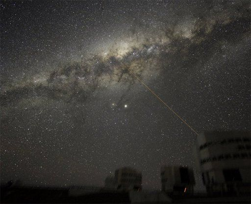 The galactic center as seen from the ESO La Silla Paranal Observatory in Northern Chile.