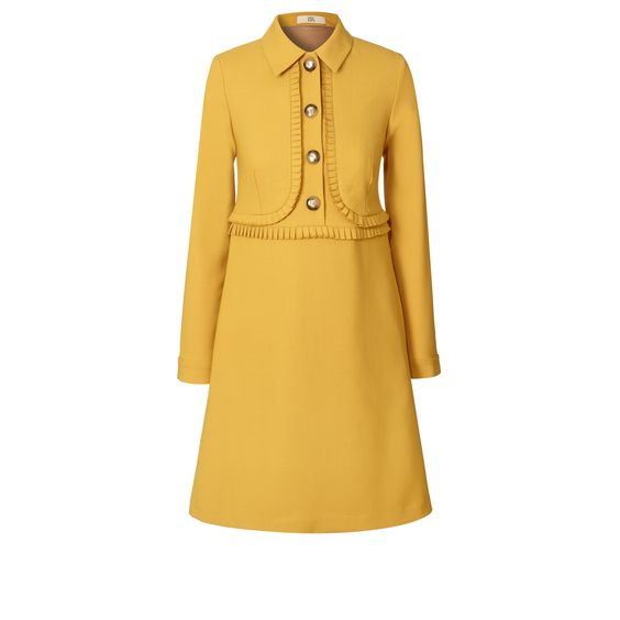 Wool Blend Suiting Pleated Tunic