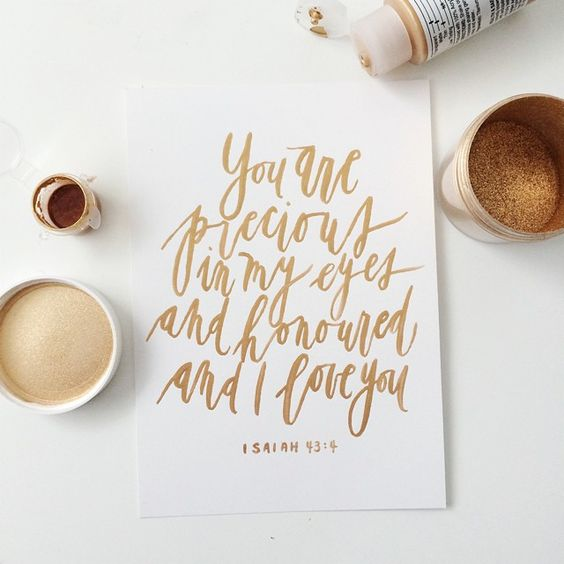 Gold Calligraphy Quote Brush Calligraphy By Written Word