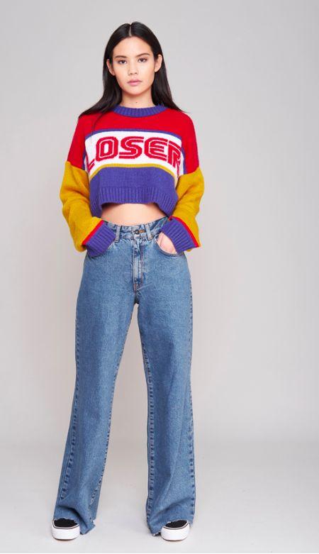 The ragged priest jumper. Loser. Mom jeans. Vans.