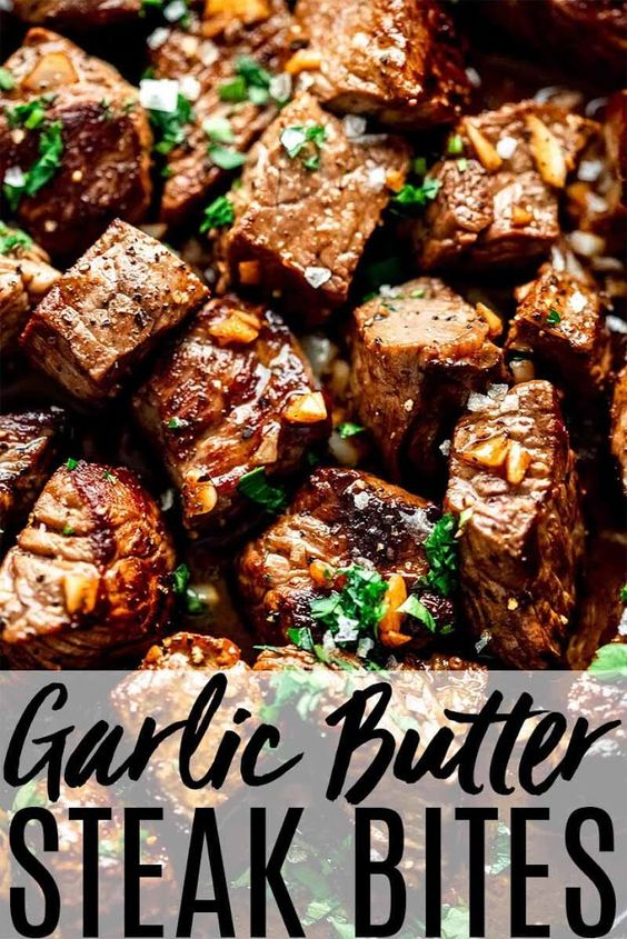 Steak Bites with Garlic Butter & Mustard Dipping Sauce