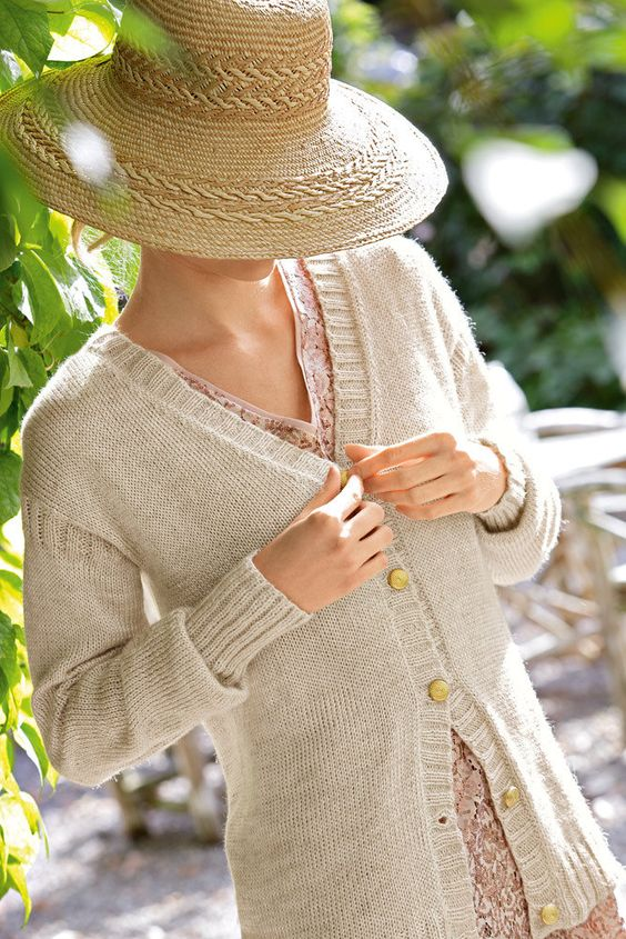 Womens V Neck Cardigan in Bergere de France Cabourg ...
