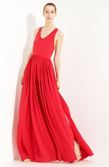 Crazy about this silk crepe maxi