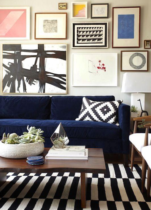 Decor Color Combinations Interior Ideas Blue couches Color