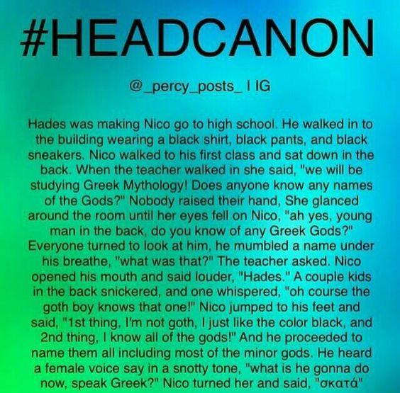 Nico di Angelo Headcanon >>> ACCEPTED X 10