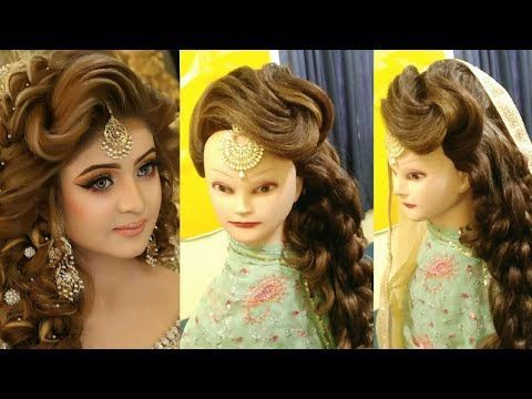 Kashee S Bridal Front Puff Hairstyles Bride Puff Hairstyles Bridal Puff Hairstyle Video Side Puff Youtube In 2020 Hair Puff Hair Styles Bridal Hairdo