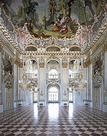 Schloss Nymphenburg in southern Germany.  Some of the rooms are Baroque, and some are redecorated in Roccoco.