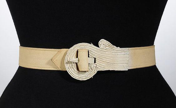Belt | House of Schiaparelli | French | 1938 | leather, plastic | Brooklyn Museum Costume Collection at The Metropolitan Museum of Art | Accession Number: 2009.300.3529a, b