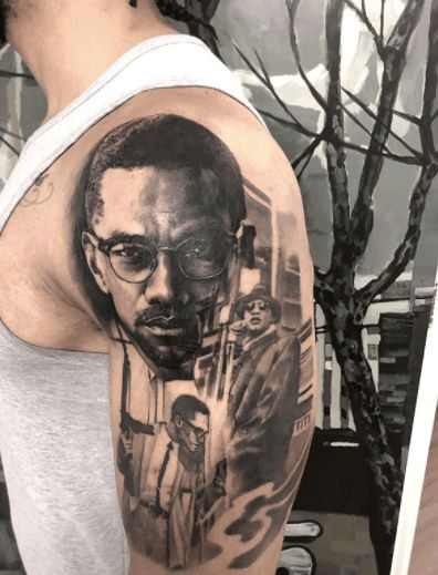 portrait Tattoo ideas for men 2021, BLM tattoo