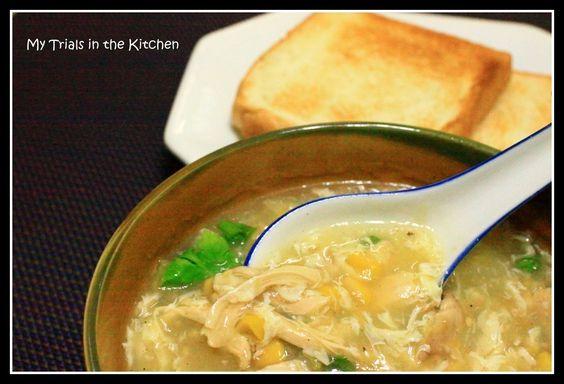 My Trials in the Kitchen: Sweet Corn Chicken Soup