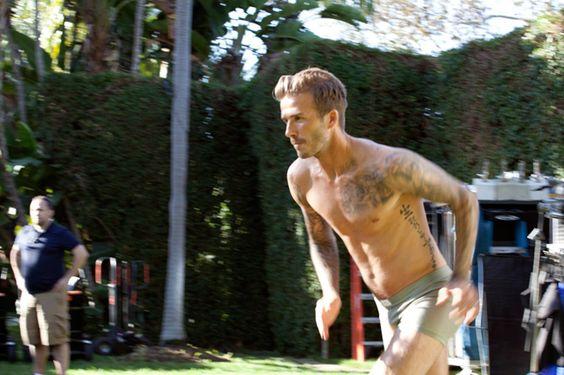 David Beckham unclothe for H campaign