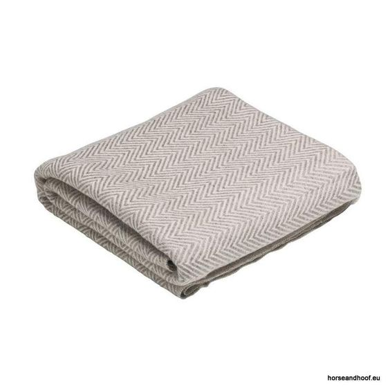 Pampeano Descanso Cashmere Throw - Beige and White 130x250cm 100 cashmere A…