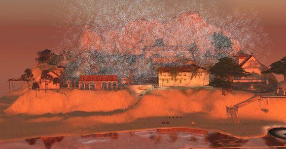 Un genre de plage landaise au premier plan, une manière de Sainte Victoire tout au fond... les ceusses qui ne connaîtraient pas un monde pareil n'ont qu'à... se le construire ;-)