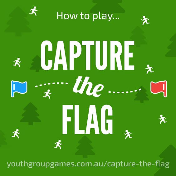 Capture the Flag.How To Play Capture the Flag  Capture the flag is one of the most popular wide games ever and is great to play on a youth camp in a location with plenty of running space. OR you can add a glow in the dark element to it with www.capturetheflagredux.com
