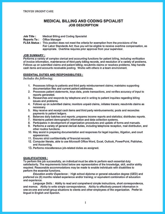 medical billing resume examples cyrinesdesign