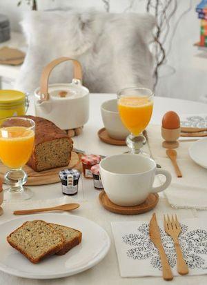 Quel piccolo grande lusso della tavola apparecchiata per colazione .