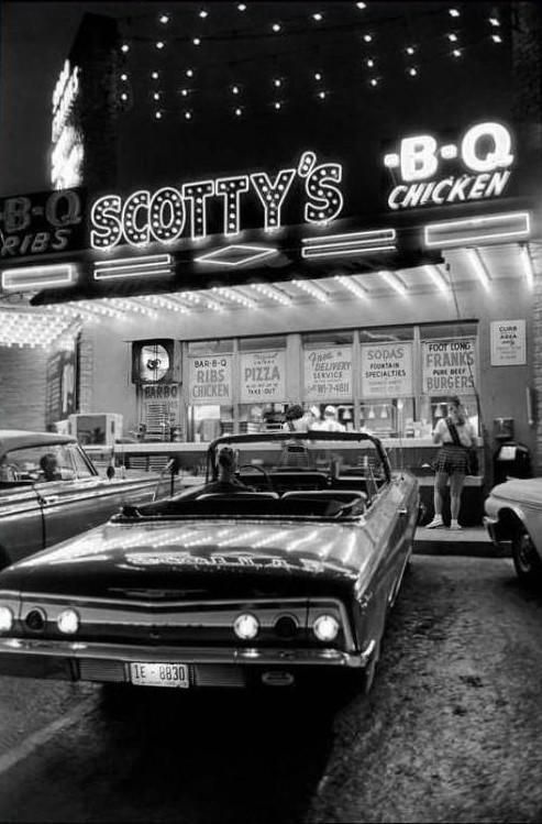 1962 - photo by Elliott Erwitt That looks like a good place to eat!!