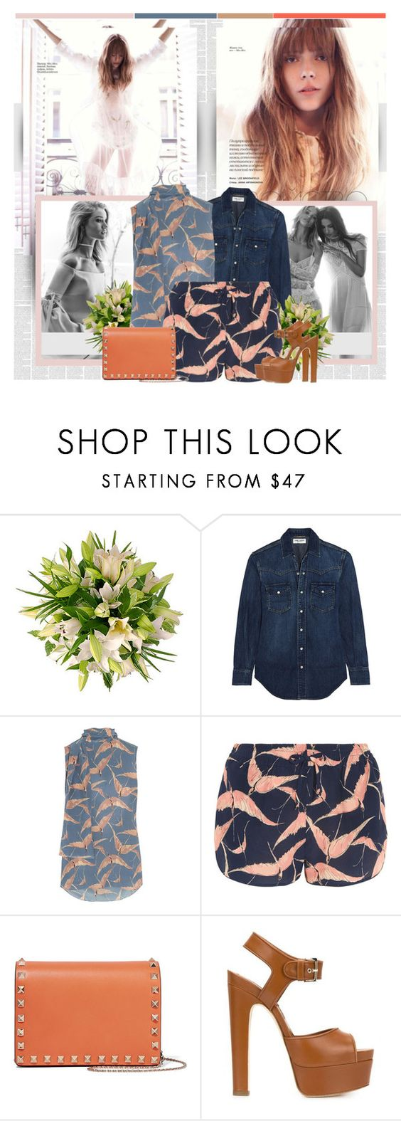 """Saturday"" by bklana ❤ liked on Polyvore featuring Whiteley, Yves Saint Laurent, Valentino and Brian Atwood"