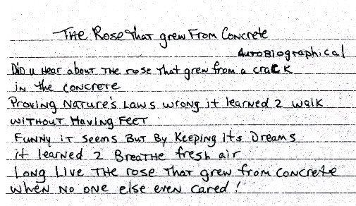2pac The Rose That Grew From Concrete Autobiographical