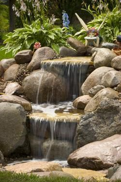 Small Pondless Waterfall Landscapeideas Waterfalls Backyard Pond Landscaping Fountains Outdoor