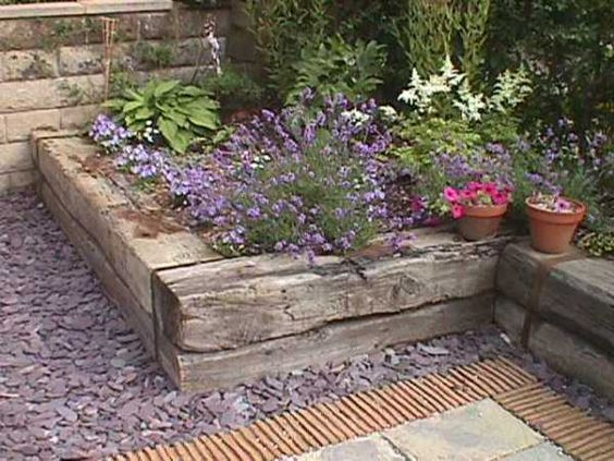 We want to make some raised beds with railway sleepers this year - these are fab!