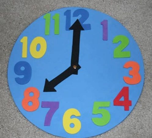 9 Clock Crafts Images And Ideas For Kids And Preschoolers Clock