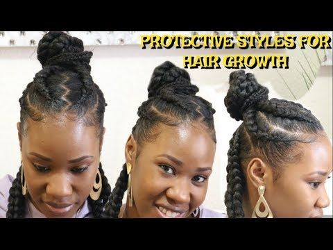 Cornrow With Extensions Protective Styles For Hair Growth Braid With Me Hair Hair Growth Braids