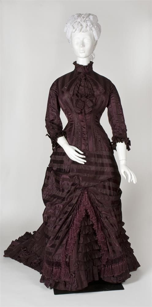 Trousseau Dress; 1878; Silk, cotton and taffeta.