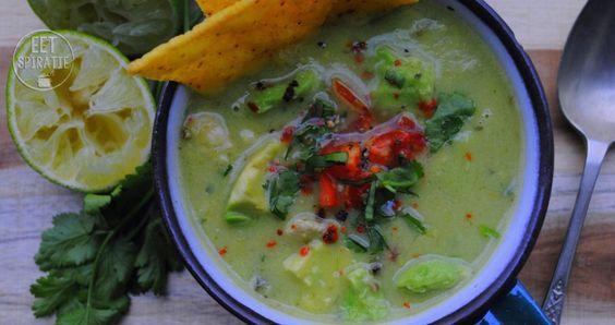 Avocado tortilla soep 2
