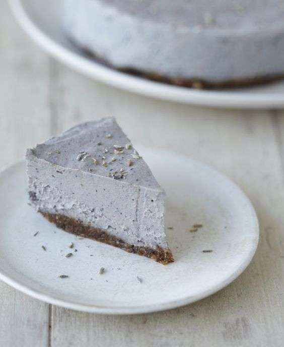 Raw Lavender Cheesecake with Hazelnut Crust | Nutrition Stripped Cookbook