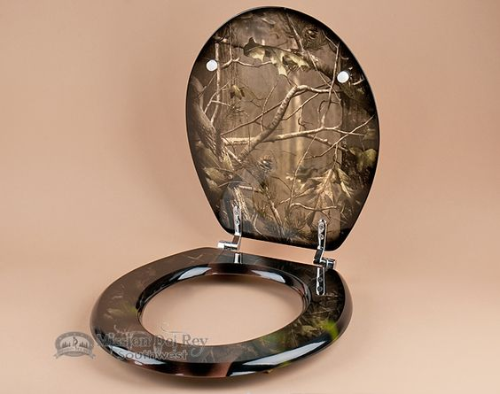 Rustic Hunter Painted Toilet Seat -Real Tree Camo (t8) - Rustic ...