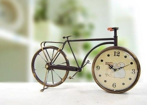 little clock bicycle structure