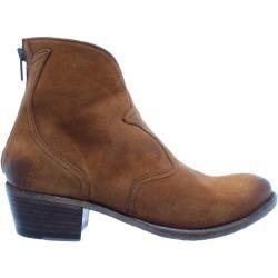 LOBLAN 548 Men/'s Brown Waxy Leather Western Biker Square Chisel Toe Cowboy Boots
