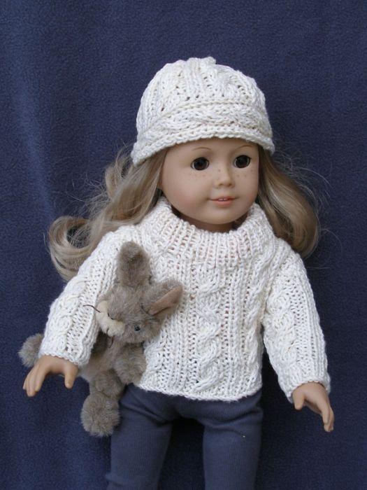 Knitting Pattern 18 Inch Doll : Knitting pattern for 18 inch dolls for Lucy Knitting doll clothes/ American...
