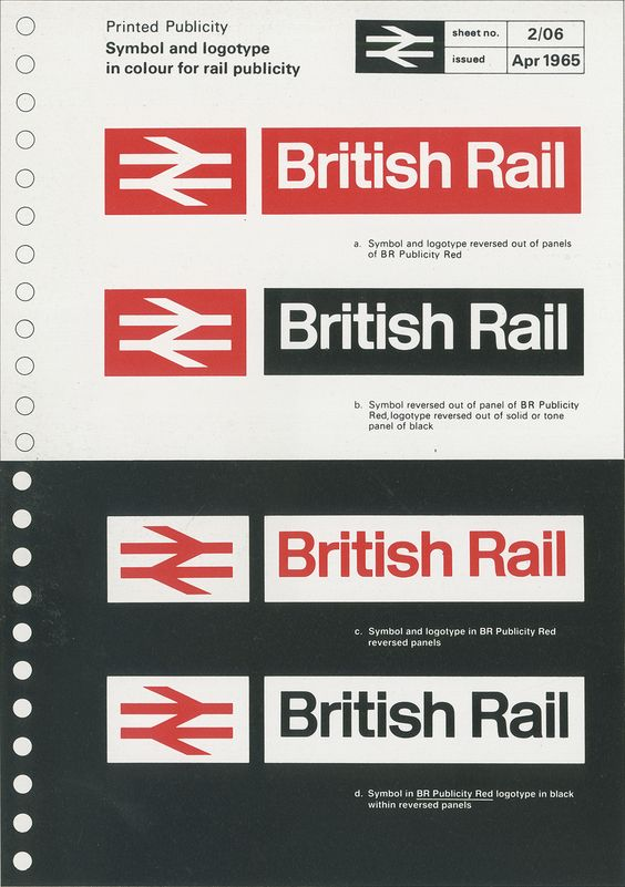 British Rail Logo / Design Research Unit / Gerry Barney