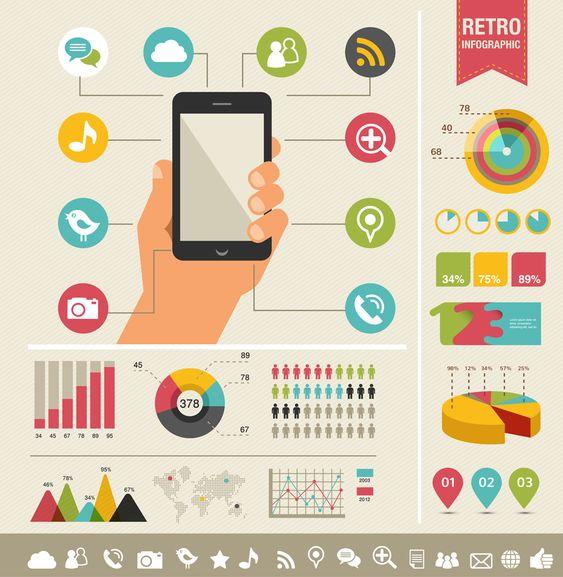 Retro #infographic elements | Graphics Store | Pinterest ...