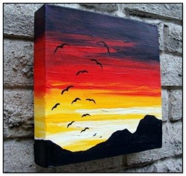 49 Easy Canvas Painting Ideas For Beginners In 2020 Easy Canvas Art Easy Canvas Painting Small Canvas Paintings