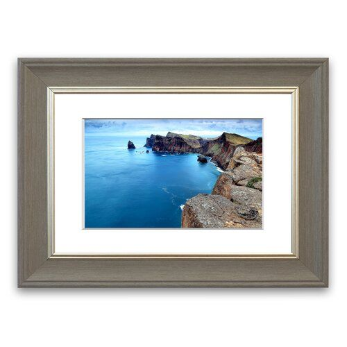 Coast Panoramic View Cornwall Portrait Framed Wall Art East Urban Home Size 30 Cm H X 40 Cm W Frame Op Framed Photographs Portrait Frame Panoramic