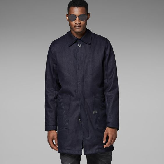 G-Star RAW | Men | Jackets-coats | A Crotch Trench , Raw Denim