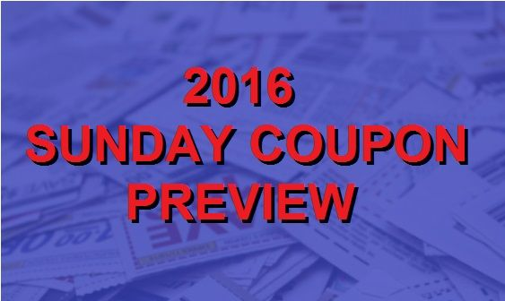2016 Coupon Insert Schedule Coupons In The News Coupon Inserts Sunday Coupons Coupons