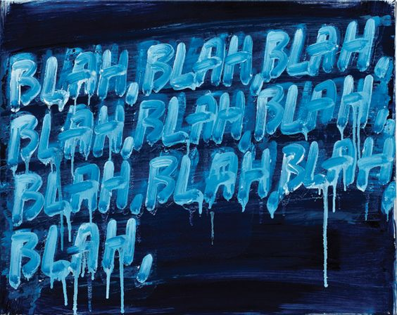 Painter Brings New Meaning to the Word u0027Blahu0027 By Ali Pechman - make a survey in word