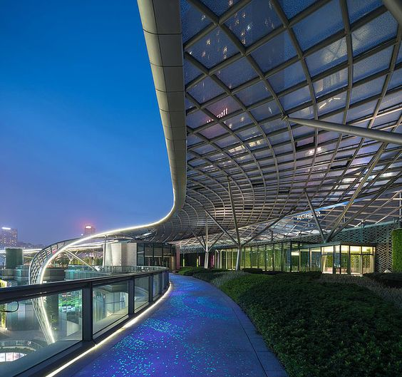 'Stadium for retail' opens in China surrounded by multi-level green park | Houses, Architecture, Decor, Design