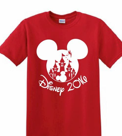 Disney customized printed t shirt mickey mouse family for Printed t shirts for family reunion