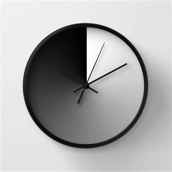 Midday Sign Wall Clock Modern Wall Clock Gradient Wall