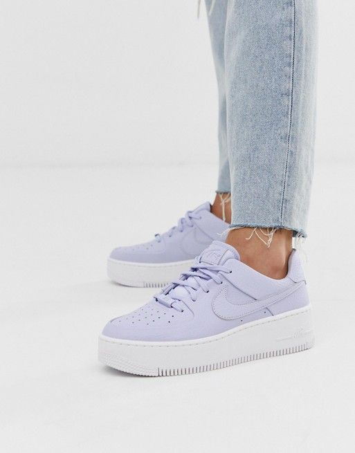 shoes - Nike Lilac Air Force 1 Sage Trainers ASOS