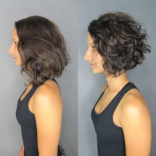 18++ Angled curly bob ideas in 2021