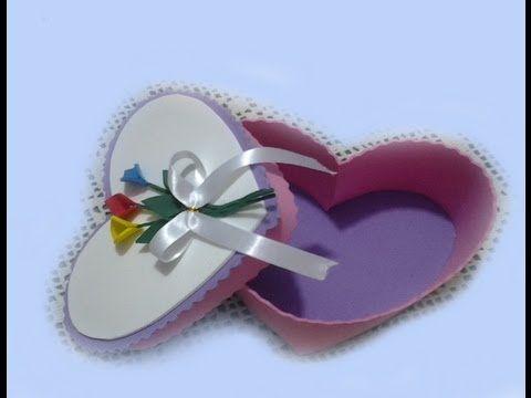 Caja Corazón en Goma Eva Para San Valentin - YouTube