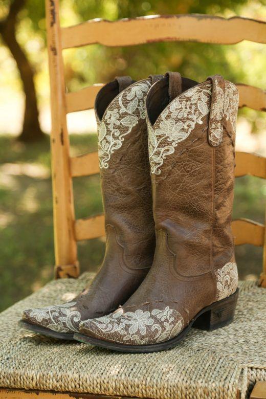 California Vineyard Barn Wedding Rustic Wedding Chic In 2020 Cowgirl Boots Wedding Bride Boots Rustic Boots